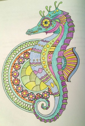 Color Me Mindful Seahorse